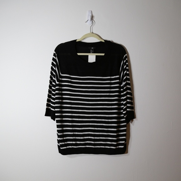 77df3456c H&M Tops | Hm Bw Long Sleeve Polo Large | Poshmark